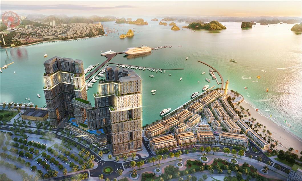 Phối cảnh dự án Sun Marina Town. Ảnh: Sun Group
