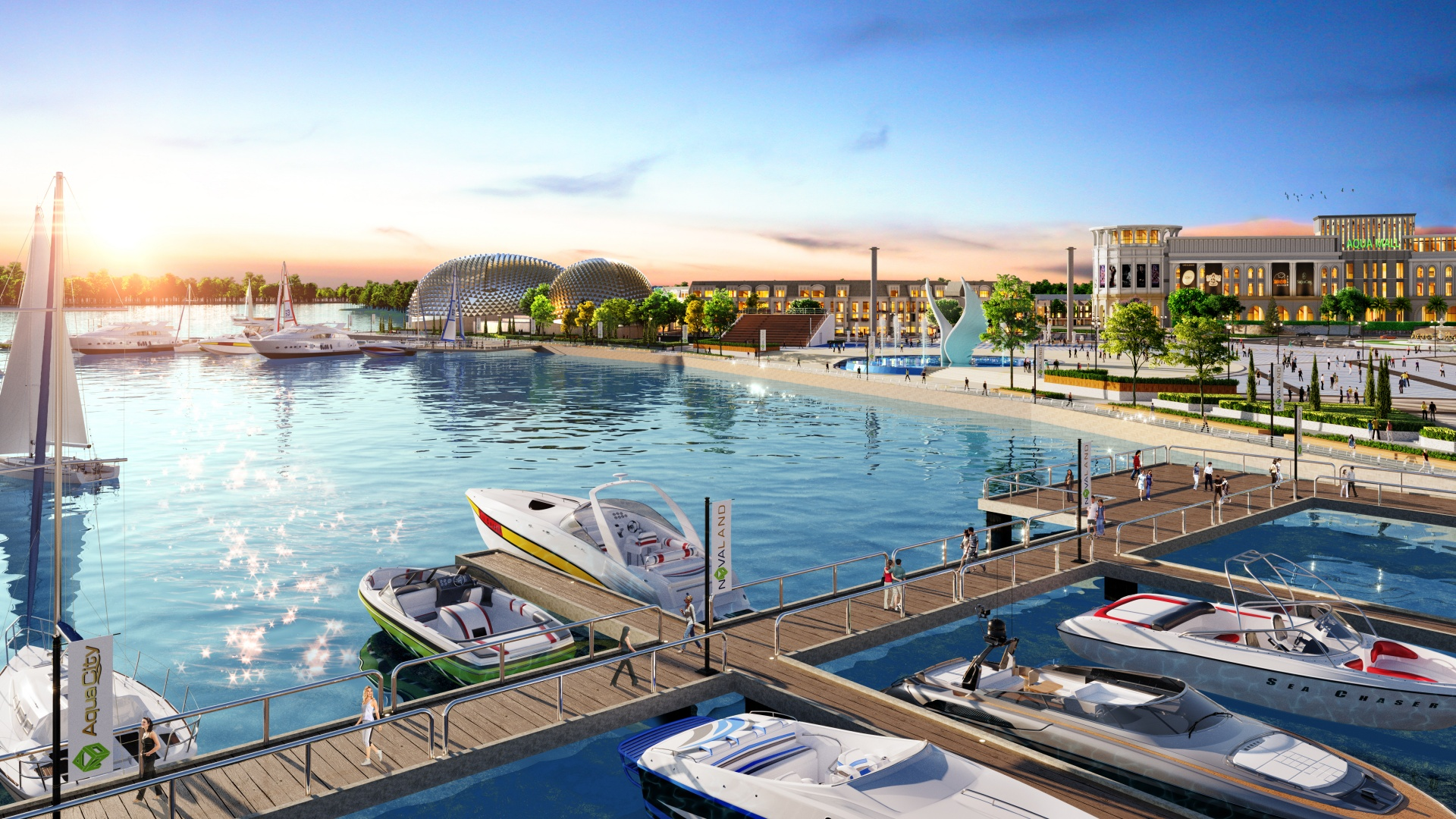 Anh Thơ nhận định tổ hợp Quảng trường - Bến du thuyền Aqua Marina được xem là điểm đến thỏa mãn lối sống đỉnh cao của cư dân và du khách.