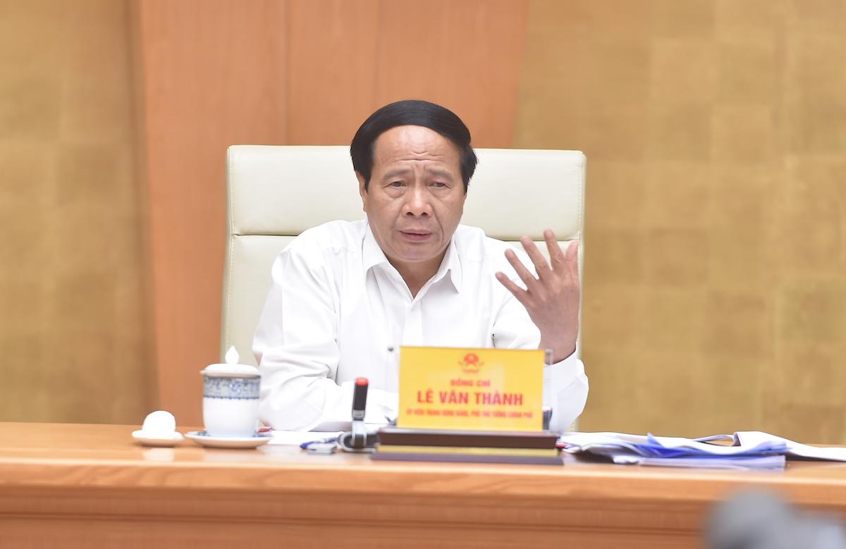 Phó thủ tướng Lê Văn Thành chủ trì hội nghị tháo gỡ khó khăn cho doanh nghiệp tại các khu công nghiệp, khu chế xuất, công nghệ cao ngày 20/9. Ảnh: VGP