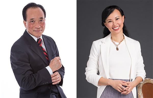 Tiến sĩ Nguyễn Trí Hiếu và Shark Thái Vân Linh.