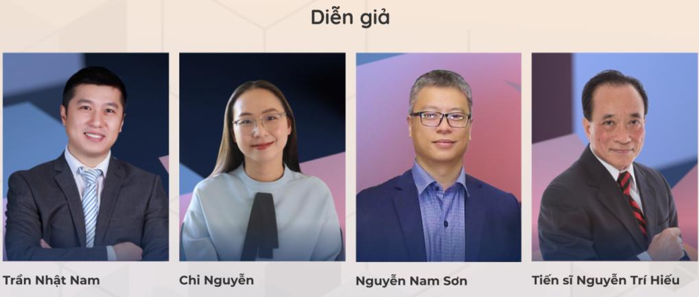 4 diễn giả tham gia eBox Nghỉ hưu an nhàn, an toàn tài chính cùng shark Linh.