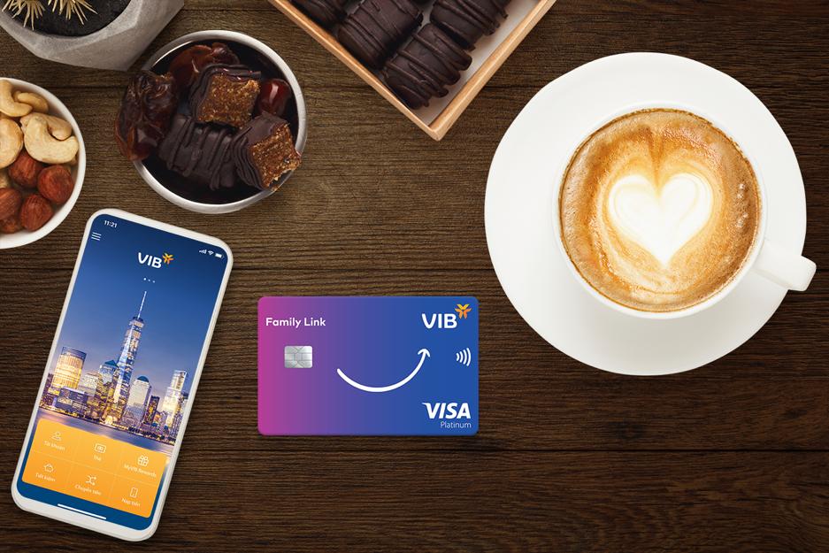 Thẻ VIB Family Link tích điểm gấp 16 lần và không giới hạn cho các chi tiêu gắn kết gia đình.