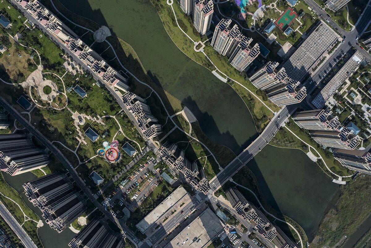 Một dự án bất động sản của Evergrande tại tỉnh Giang Tô, Trung Quốc. Ảnh: Bloomberg