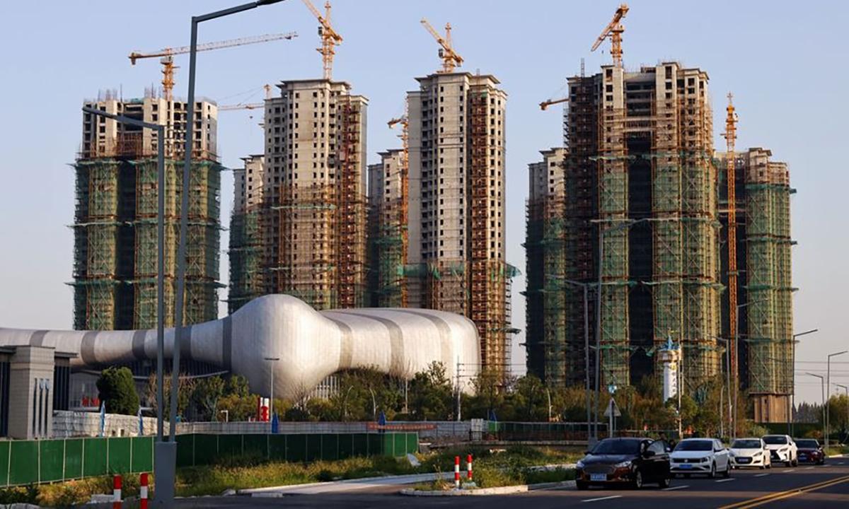 Một dự án đang xây dựng của Evergrande tại Trung Quốc. Ảnh: Reuters