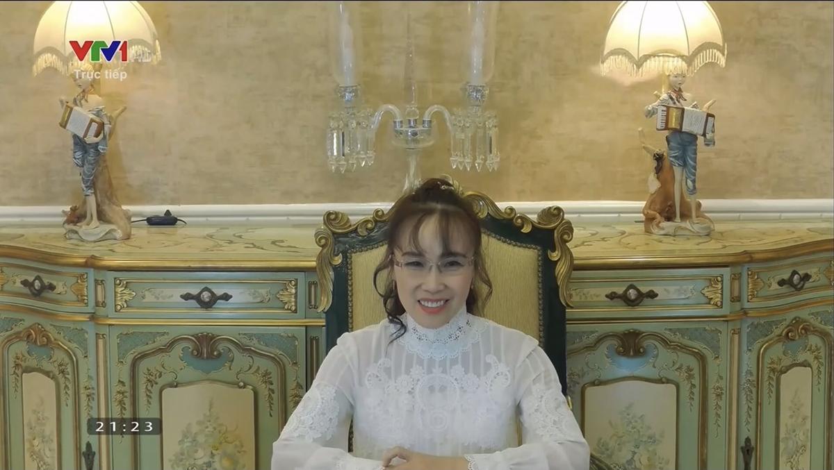 Nữ tỷ phú Nguyễn Thị Phương Thảo phát biểu trong chương trình (Ảnh chụp màn hình)