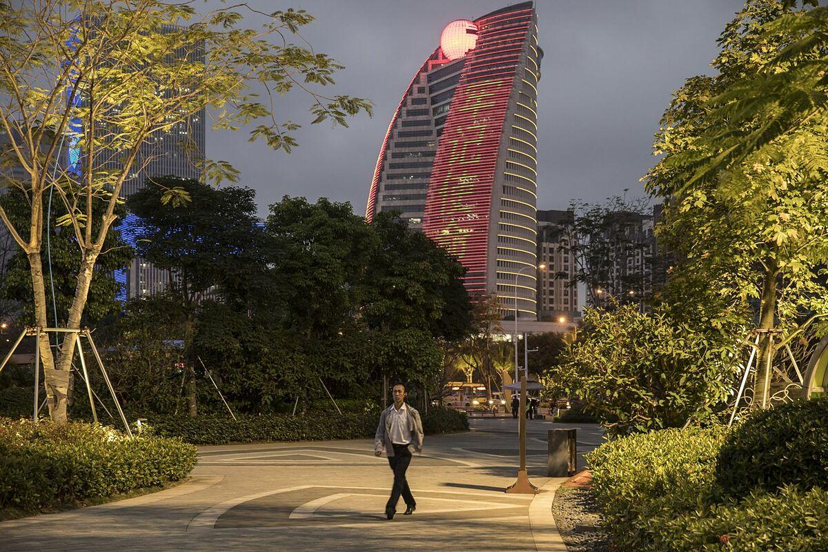 Trụ sở HNA Group tại thành phố Hải Khẩu, Trung Quốc. Ảnh: Bloomberg