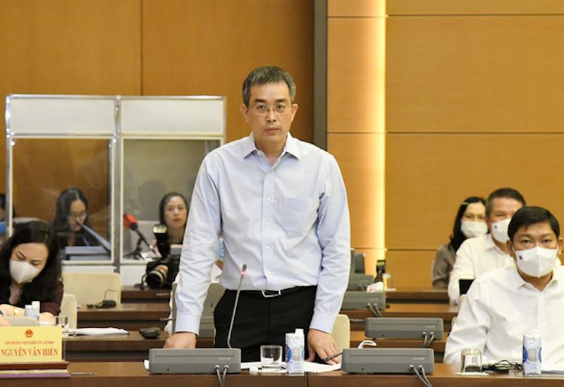 Ông Đặng Ngọc Hoà, Chủ tịch HĐQT VietnamAirlines. Ảnh: Trung tâm báo chí Quốc hội