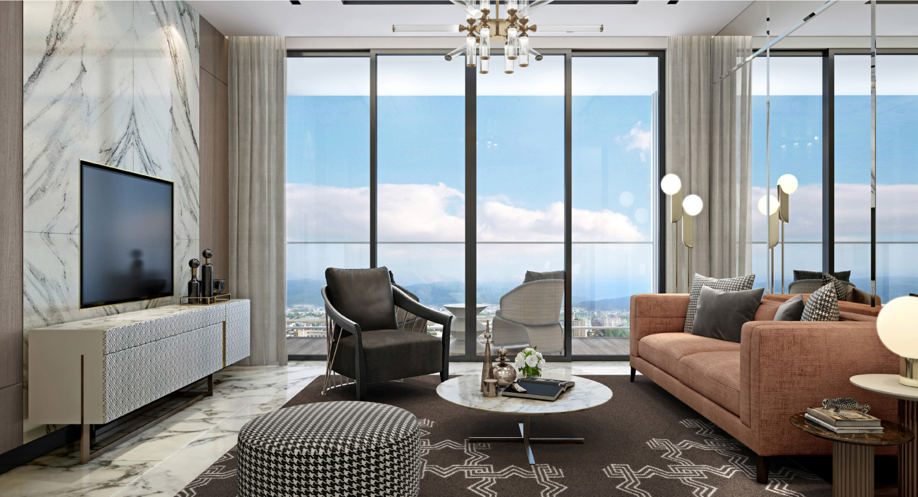 Bên trong căn hộ The Platinum. Ảnh: Sun Property