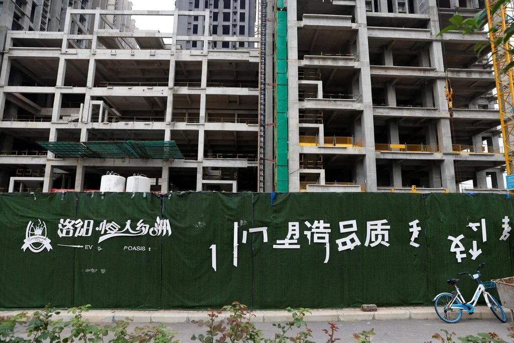 Một dự án chưa hoàn thành của Evergrande ở Lạc Dương, Trung Quốc. Ảnh: Reuters