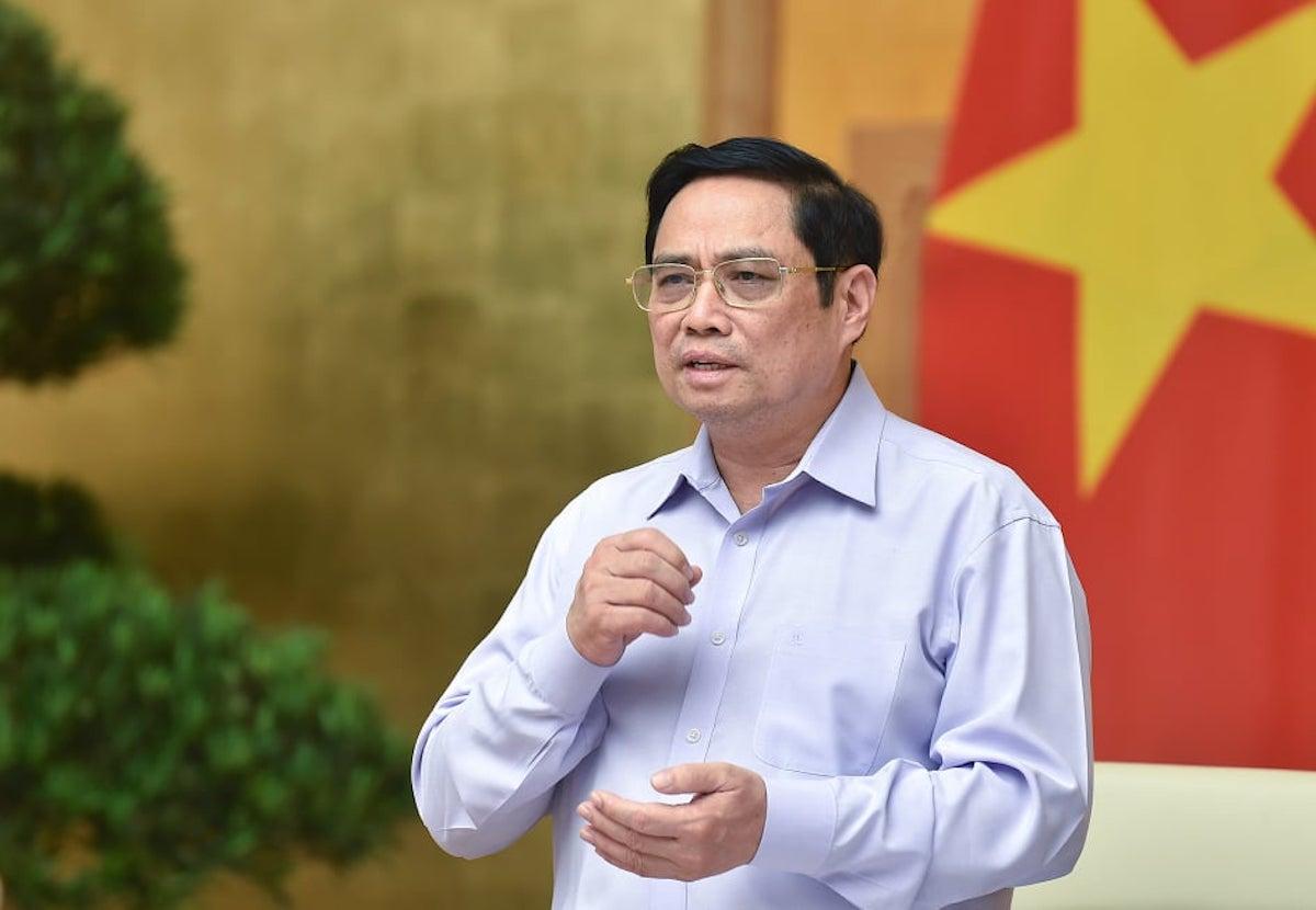 Thủ tướng Phạm Minh Chính chủ trì hội nghị trực tuyến thúc đẩy giải ngân vốn đầu tư công, ngày 28/9. Ảnh: Nhật Bắc