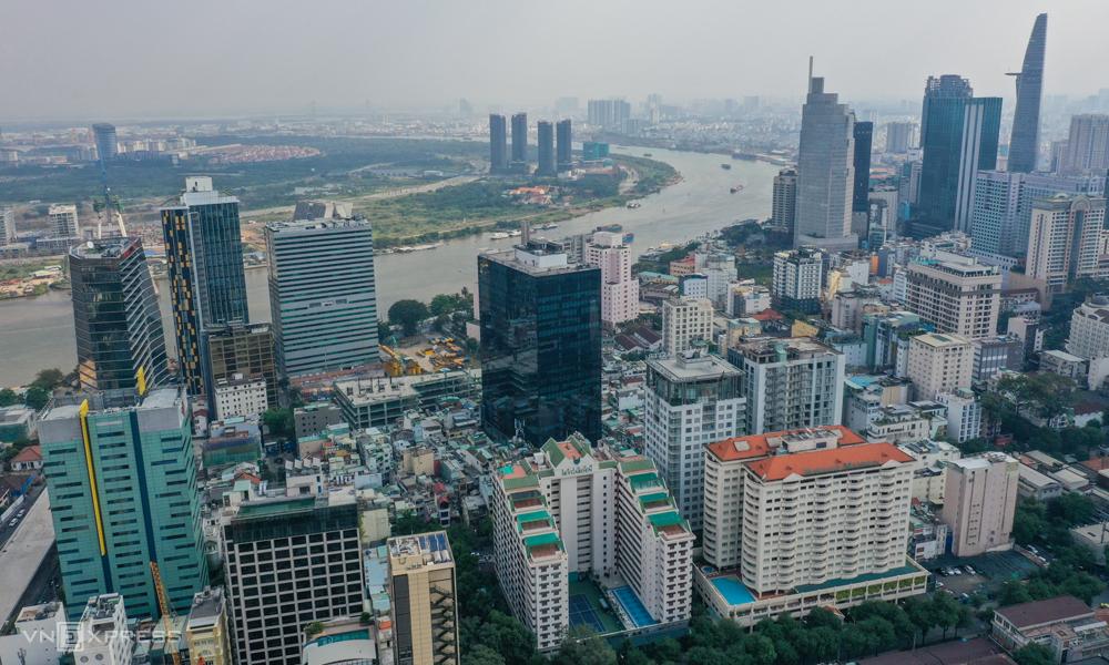 Thị trường bất động sản khu trung tâm quận 1, TP HCM. Ảnh: Như Quỳnh