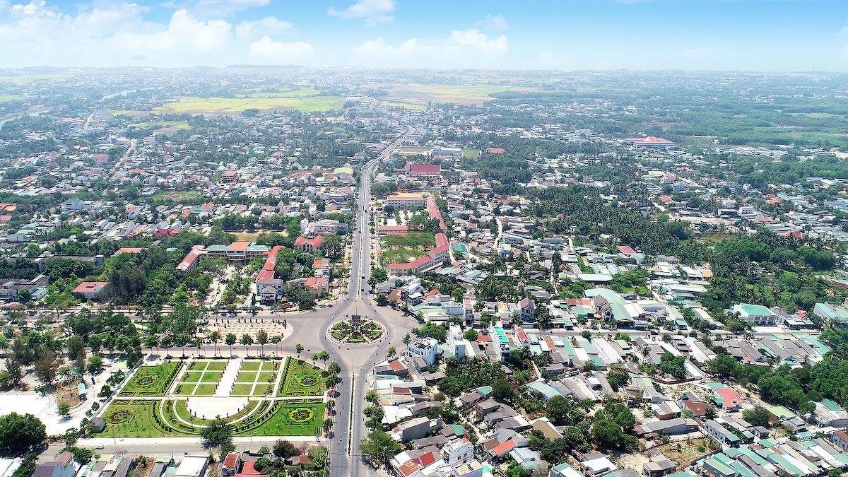 Toàn cảnh thị xã La Gi, Bình Thuận. Ảnh: Quốc Dũng