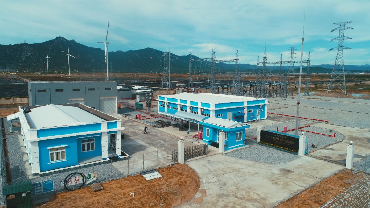 Trạm biến áp 220kV của Nhà máy Điện gió BIM
