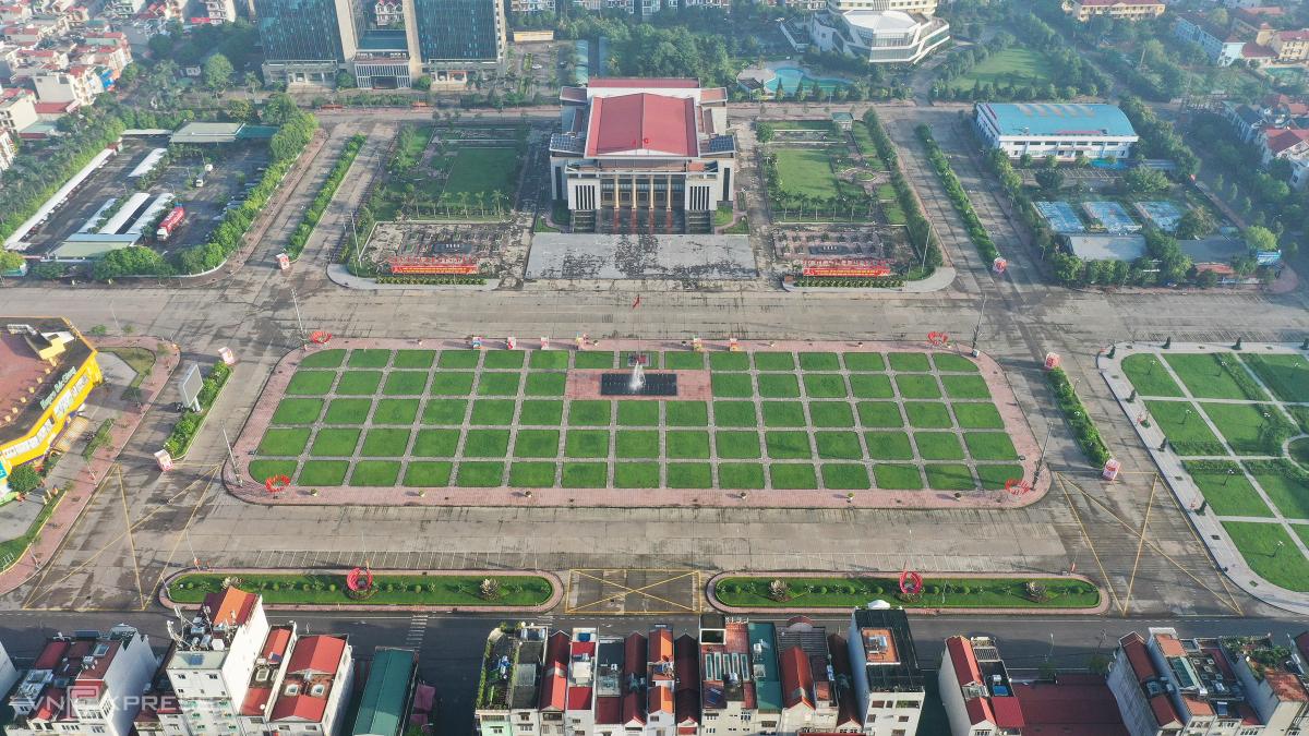Quảng trường trung tâm TP Bắc Giang. Ảnh: Ngọc Thành