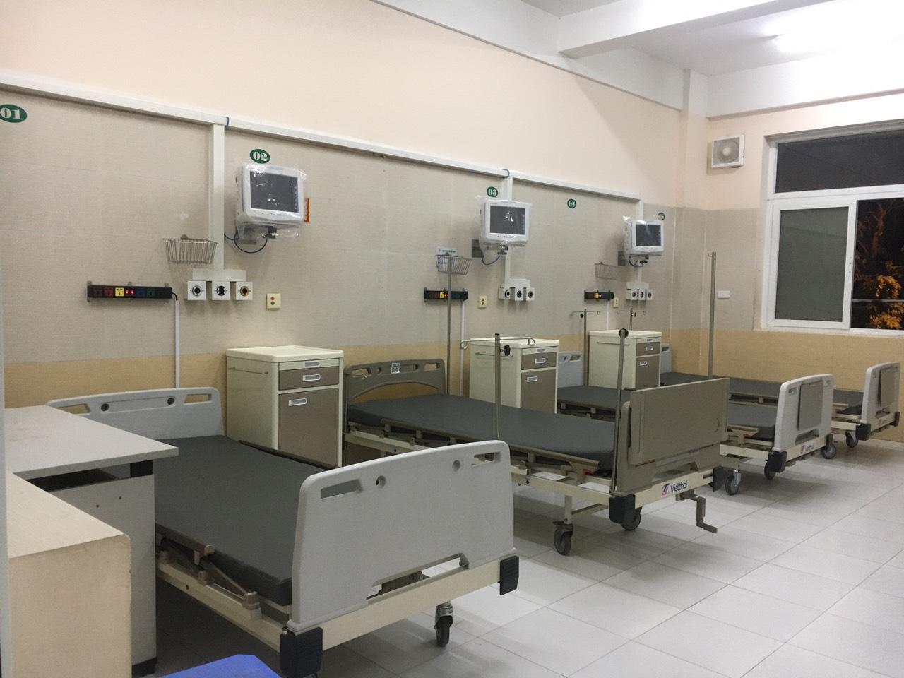 Đơn nguyên 50 giường bệnh đầu tiên của Trung tâm hồi sức tích cực (ICU). Ảnh: T&T.