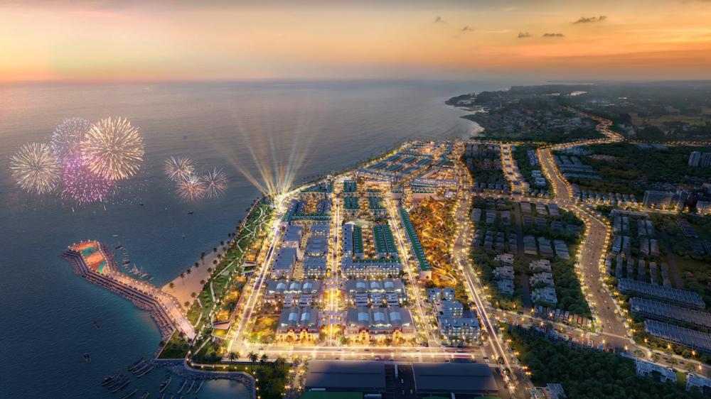 Phối cảnh phức hợp đô thị thương mại - dịch vụ và du lịch biển Lagi New City.