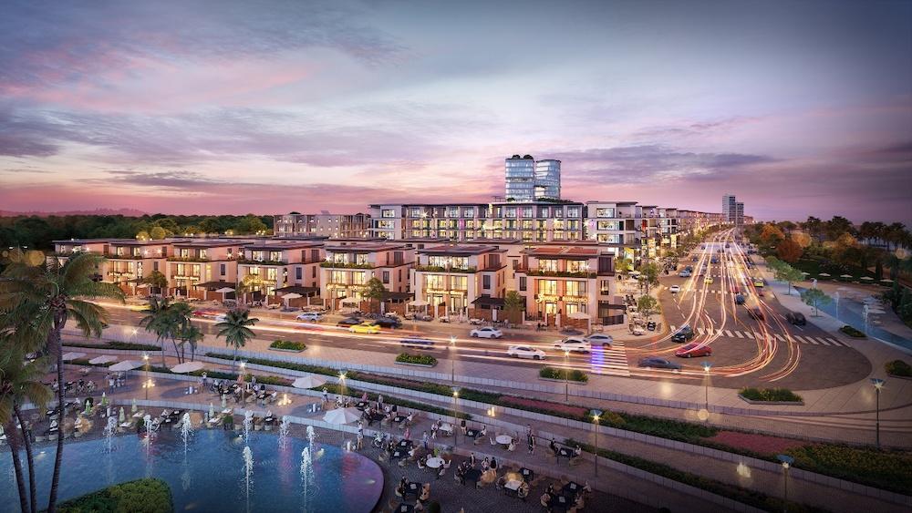 Lagi New City tích hợp nhiều tiện ích đẳng cấp như trung tâm thương mại, nhà hàng, shophouse, nhà trẻ, trường học...