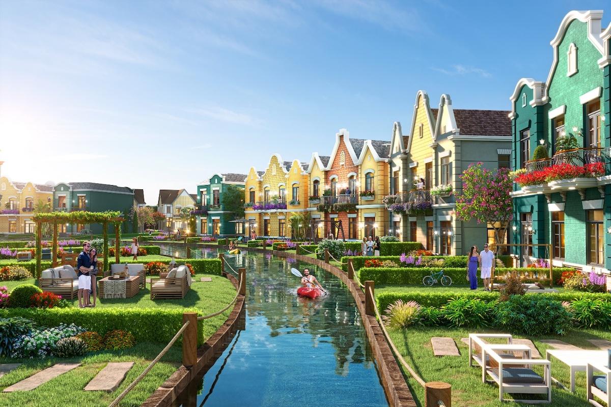 Biệt thự Lagoon The Tropicana lấy cảm hứng từ phong cách kiến trúc Châu Âu cổ tại làng Giethoorn – Hà Lan