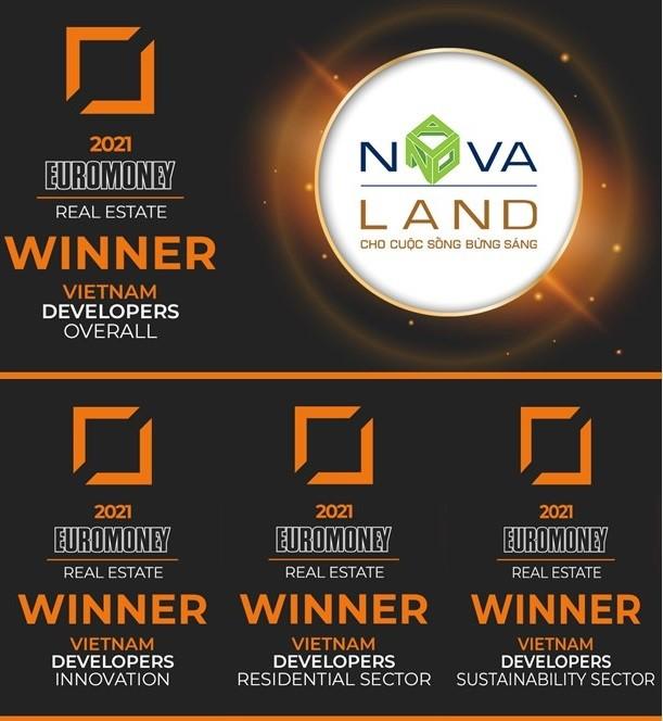 Tập đoàn Novaland đã được vinh danh Nhà phát triển bất động sản xuất sắc 2021.