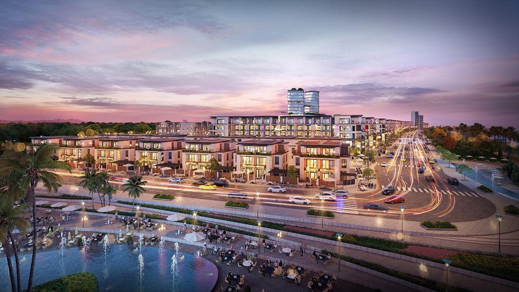 Phối cảnh Lagi New City - phức hợp đô thị thương mại - dịch vụ và du lịch biển đầu tiên được phát triển tại La Gi.
