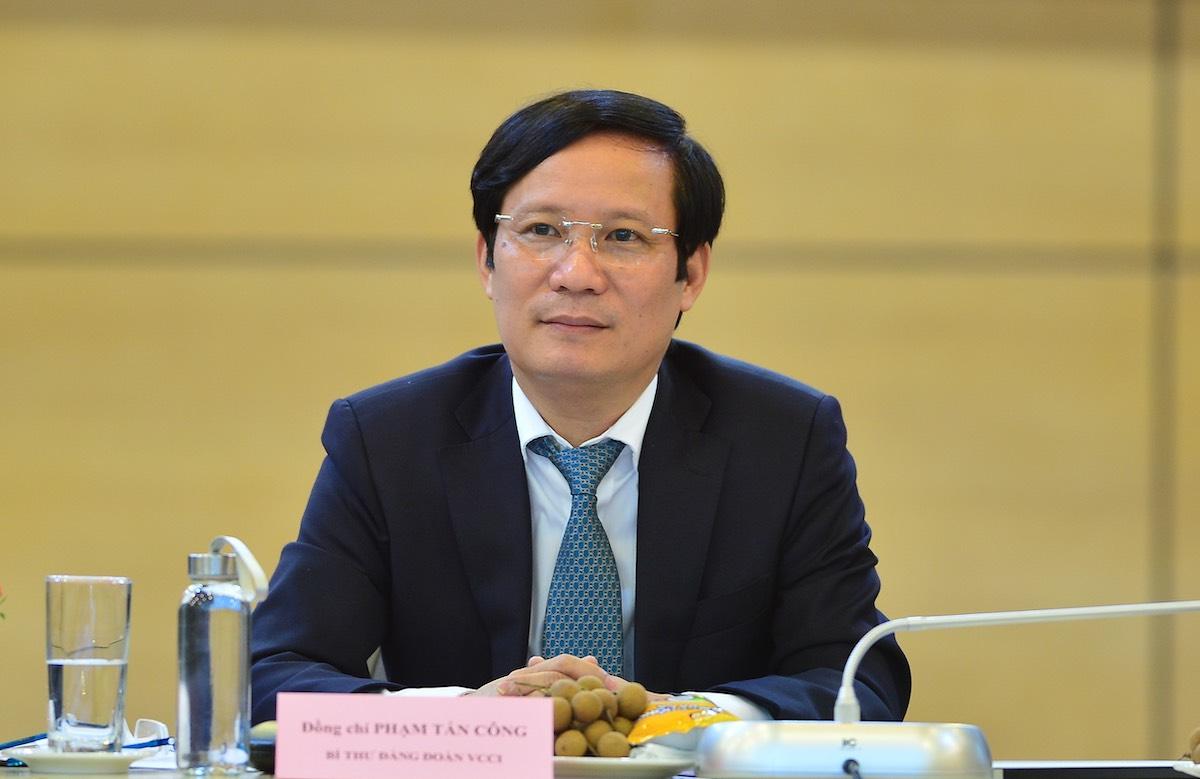 Ông Phạm Tấn Công, Chủ tịch VCCI. Ảnh: Hoàng Huy