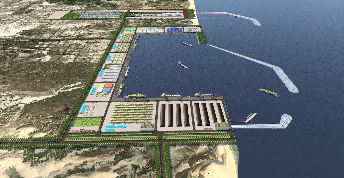 Phối cảnh dự án Trung tâm điện khí LNG Hải Lăng, tỉnh Quảng Trị