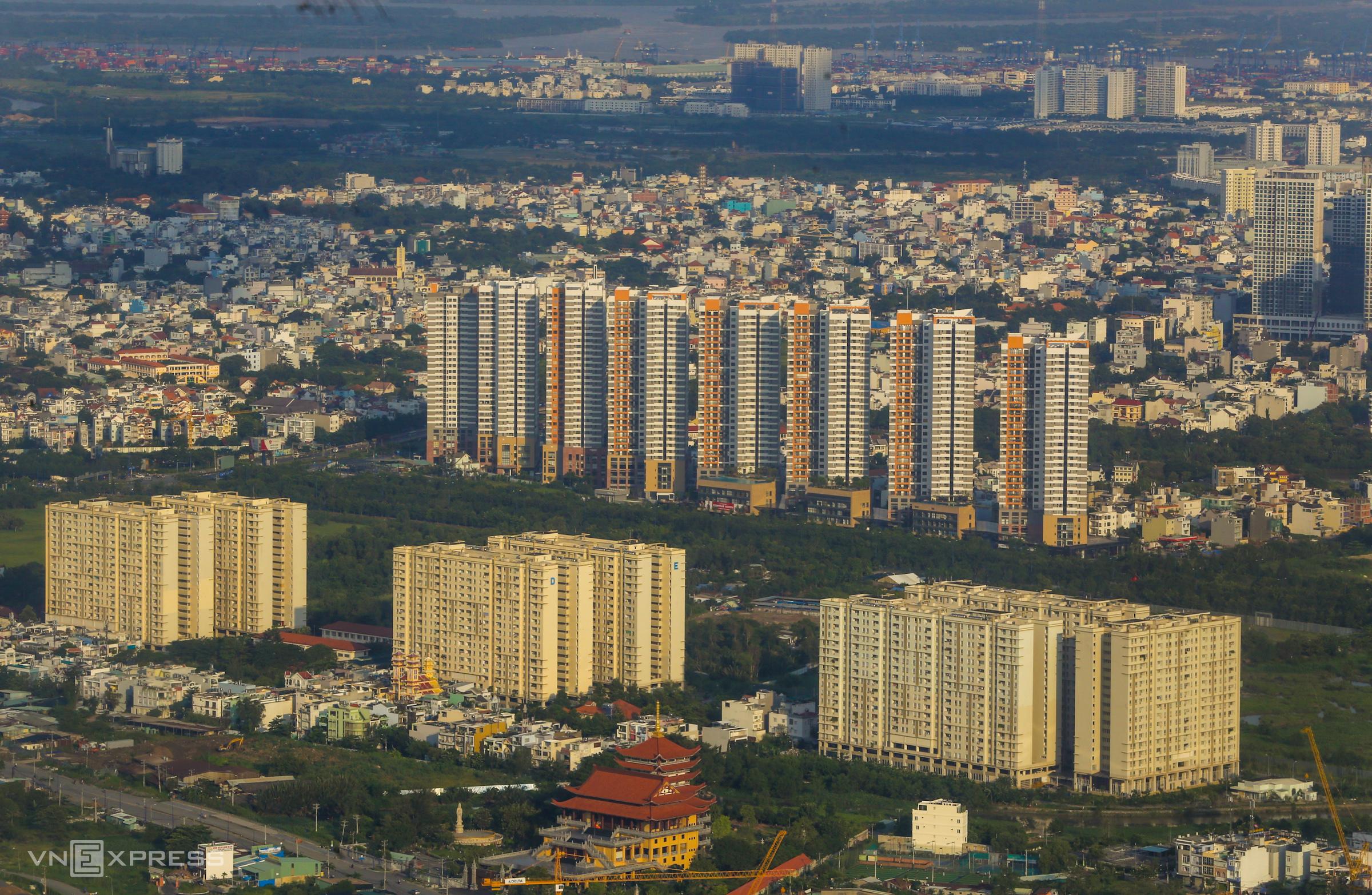 Thị trường căn hộ phía Đông TP HCM. Ảnh: Quỳnh Trần
