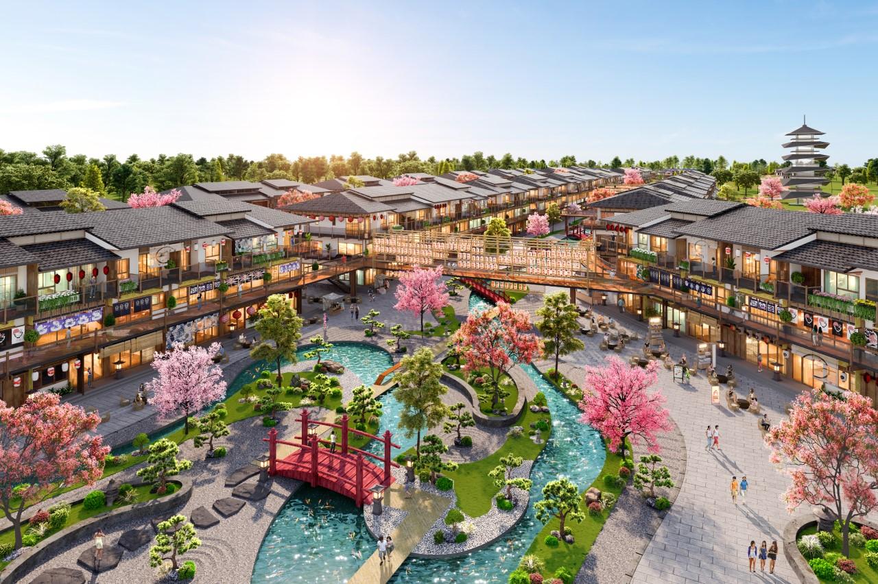 Binh Chau Onsen được thổi hồn cảm hứng từ kiến trúc đậm chất Nhật Bản, có sự giao thoa giữa vẻ hoài cổ, sang trọng và hơi thở hiện đại. Ảnh phối cảnh: Novaland.