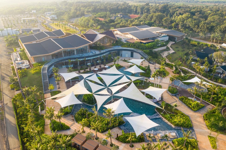 Binh Chau Onsen kiến tạo một không gian sống chất lượng cùng các trải nghiệm nghỉ dưỡng khoáng nóng độc đáo tại miền Nam. Ảnh phối cảnh: Novaland.