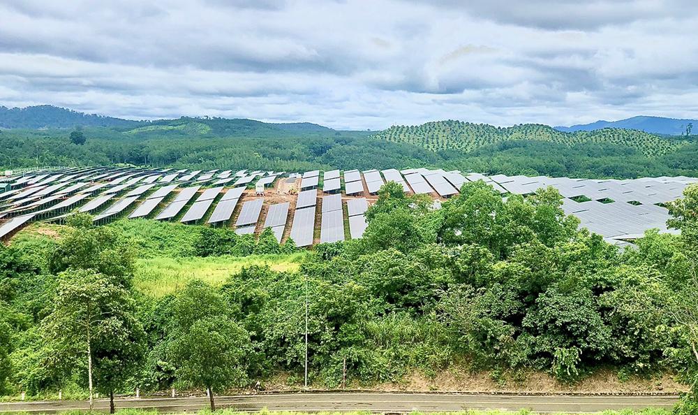 BIDV tham gia phục vụ dự án nhà máy điện mặt trời Sê San 4. Ảnh:
