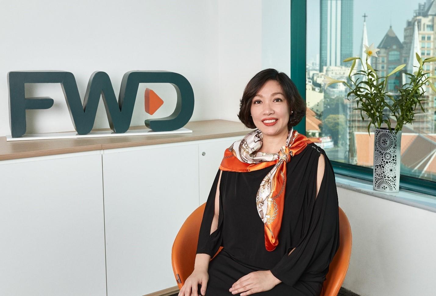 Bà Nguyễn Kim Mai Thư, Phó tổng giám đốc Phát triển Nguồn Nhân lực FWD Việt Nam.