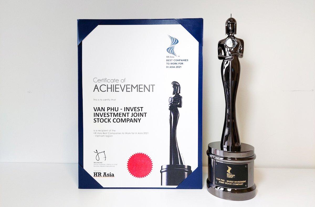 Giải thưởng Nơi làm việc tốt nhất châu Á của Văn Phú - Invest.