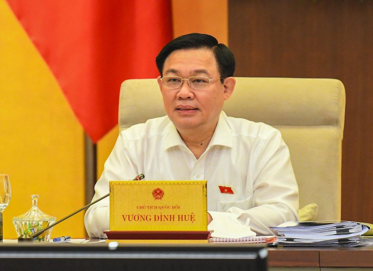 Chủ tịch Quốc hội Vương Đình Huệ. Ảnh: Hoàng Phong