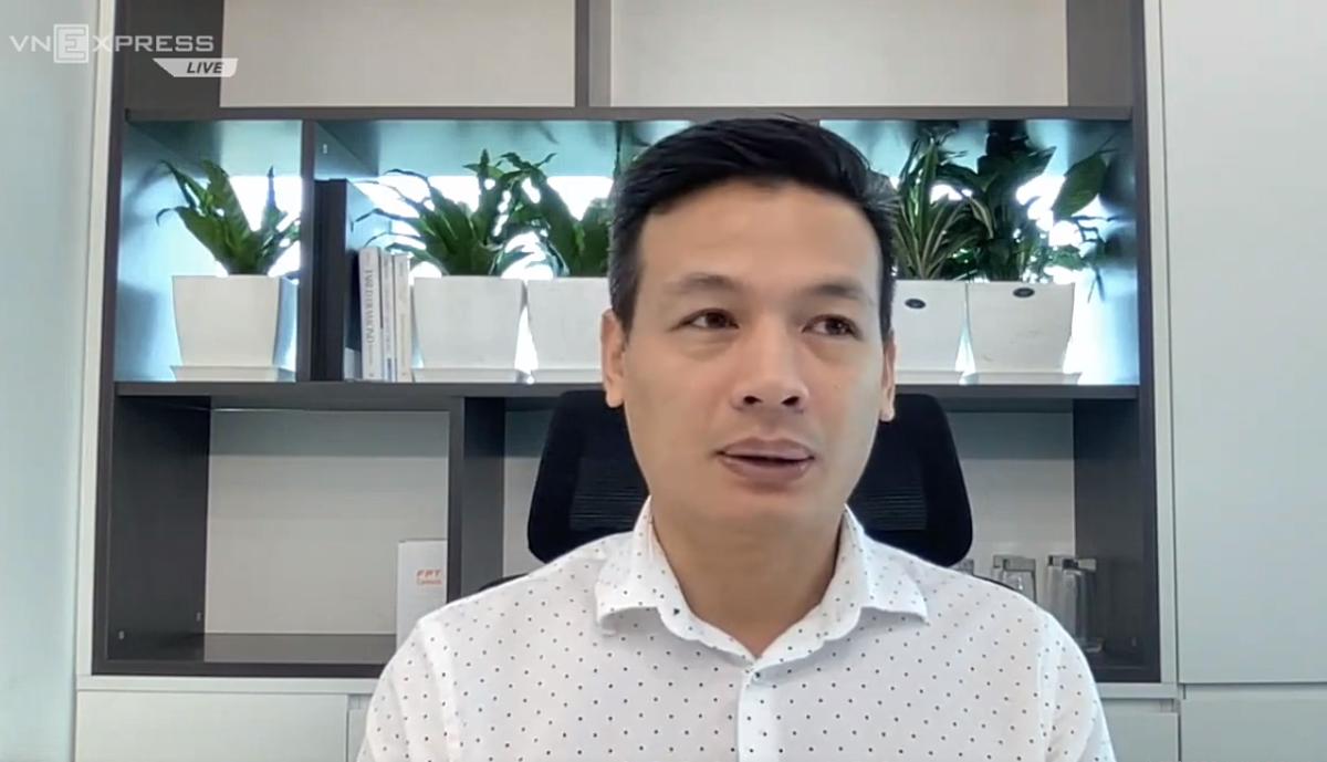 Ông Vũ Anh Tú - Giám đốc công nghệ tập đoàn FPT. Ảnh chụp màn hình