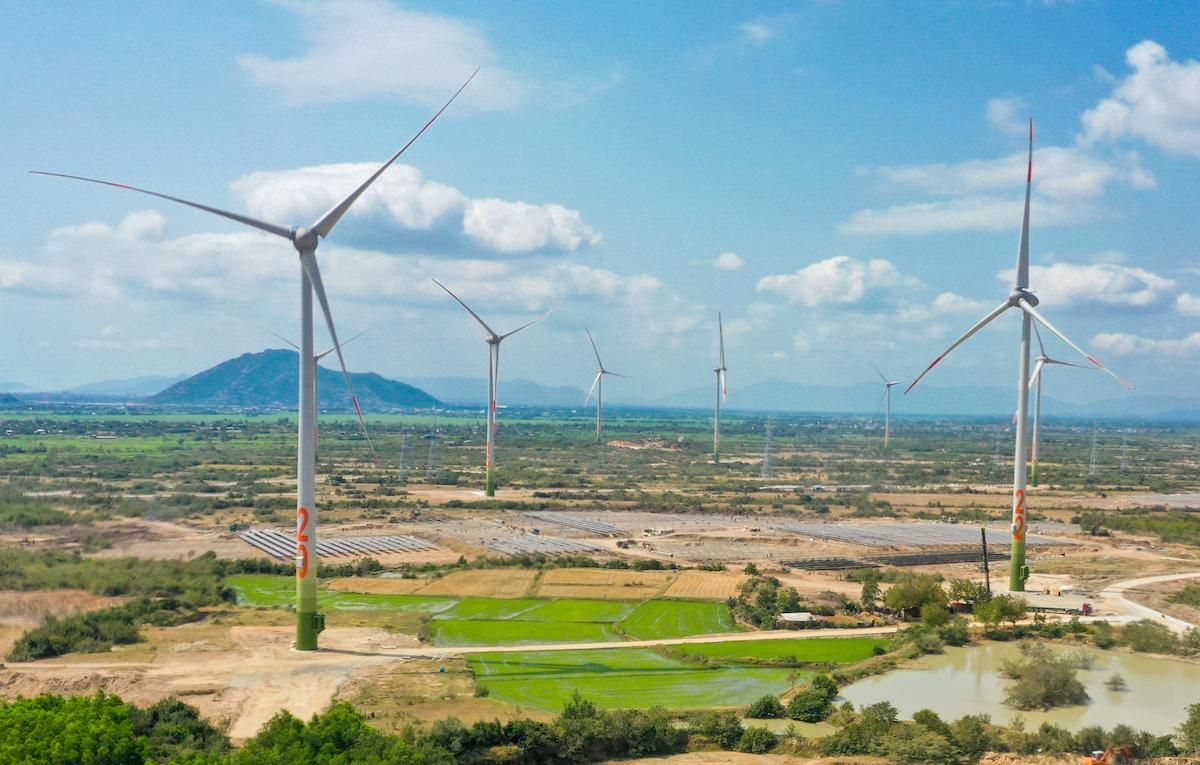 Một dự án điện gió tại Ninh Thuận. Ảnh: Hoàng Minh