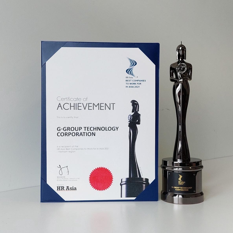 Giải thưởng Nơi làm việc tốt nhất châu Á 2021 của G-Group.