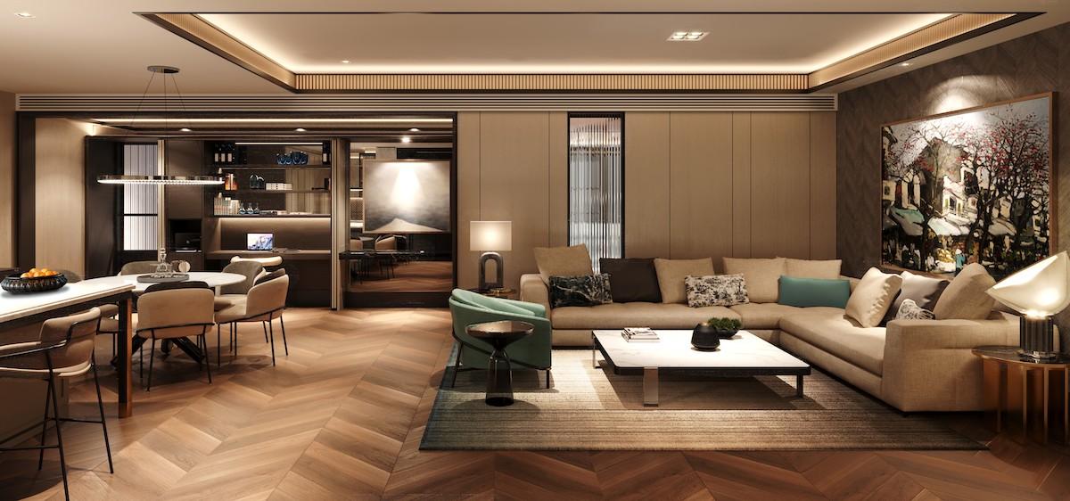 Bên trong một căn hộ hàng hiệu Ritz-Carlton. Ảnh: Masterise Homes