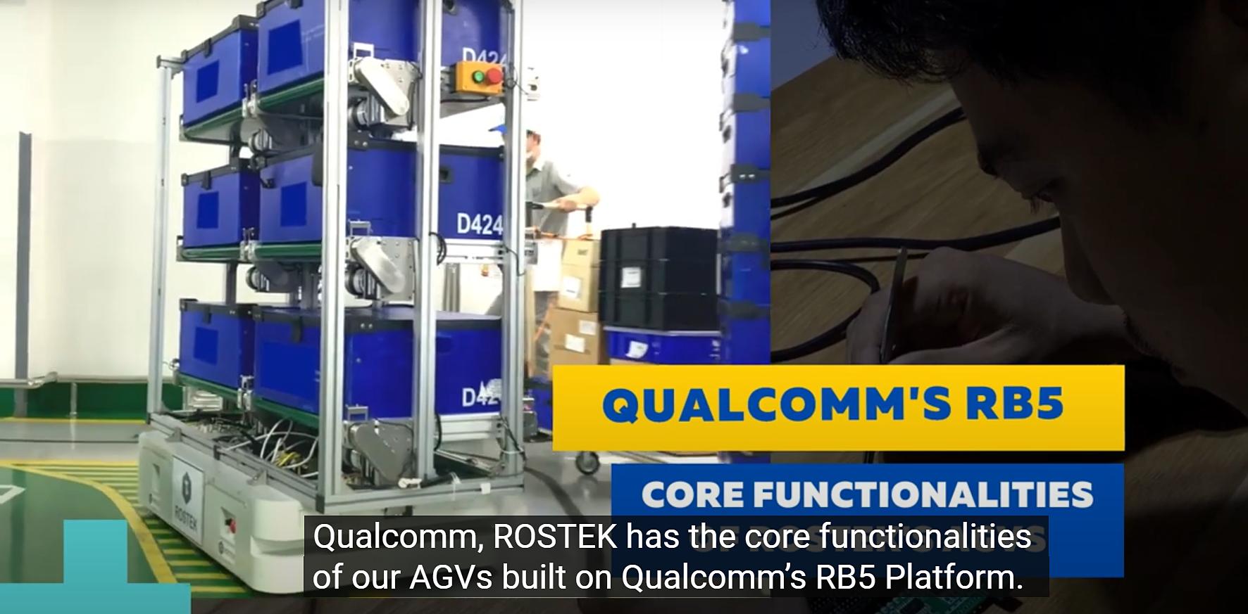 Sản phẩm robot tự hành của ROSTEK đã hoàn thiện hơn trên nền tảng và tư vấn kỹ thuật của Qualcomm qua QVIC. Ảnh: Qualcomm.