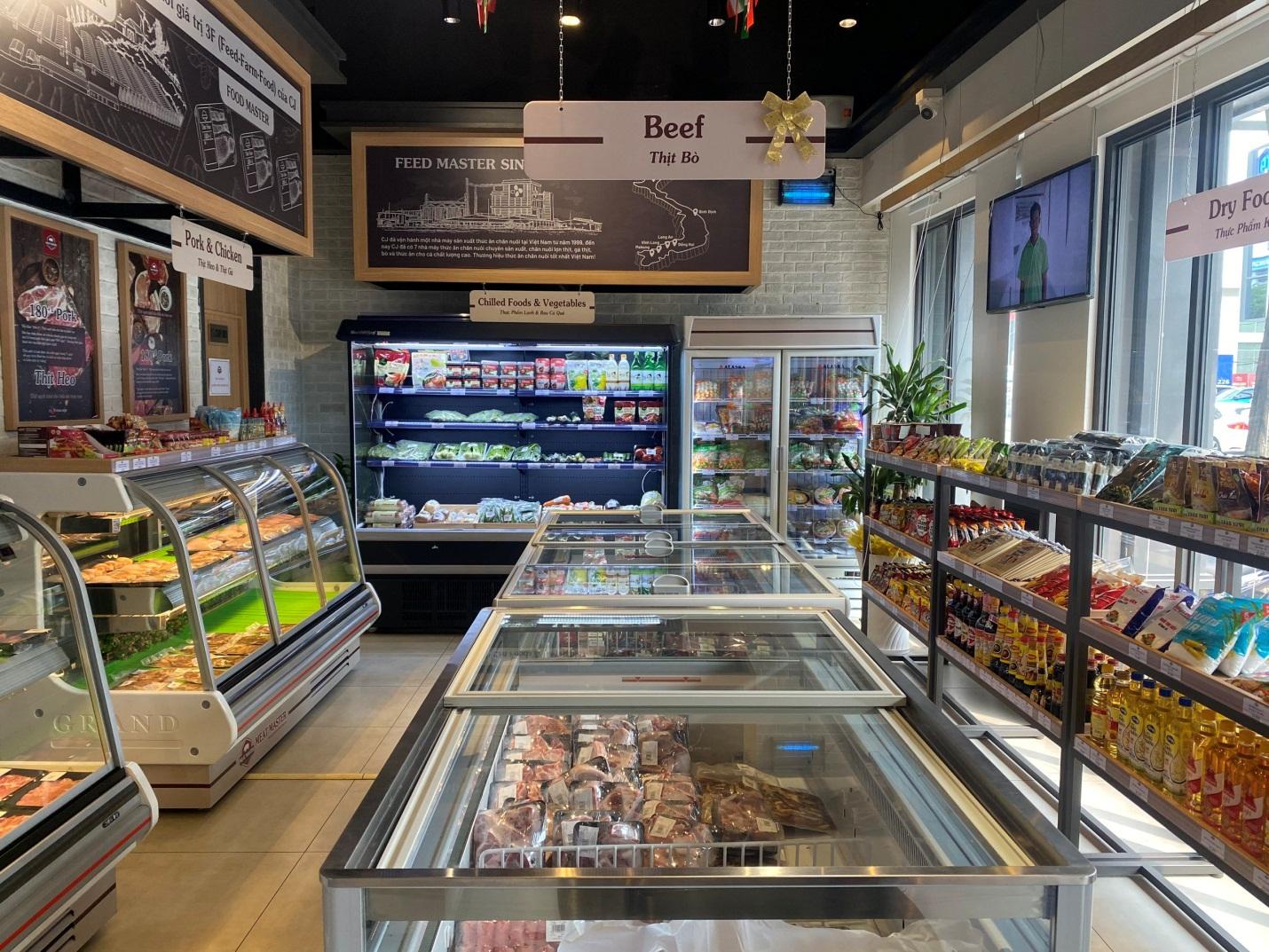 Bên trong cửa hàng Meat Master tại Số 178 Hai Bà Trưng, quận 1, TP HCM.